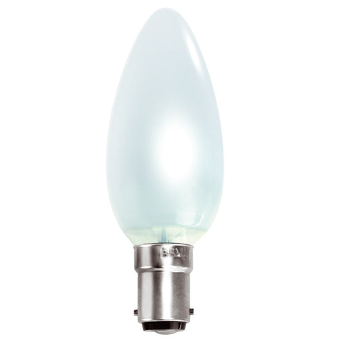 Gé 60 Watt SBC/B15d Opal Candle Light Bulb