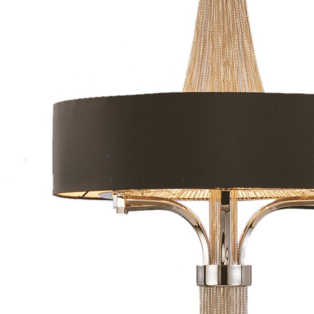 Langan Chandelier Large With Black Shade