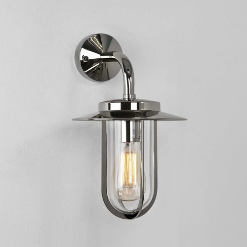 Montparnasse Nickel Outdoor Wall Light