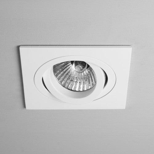 Taro Square Adjustable Fire Rated White Recessed Downlight (240v)