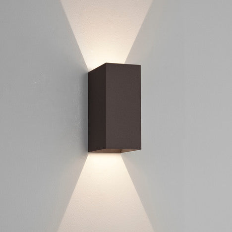 Oslo 160 Outdoor LED Up & Down Wall Light Textured Black