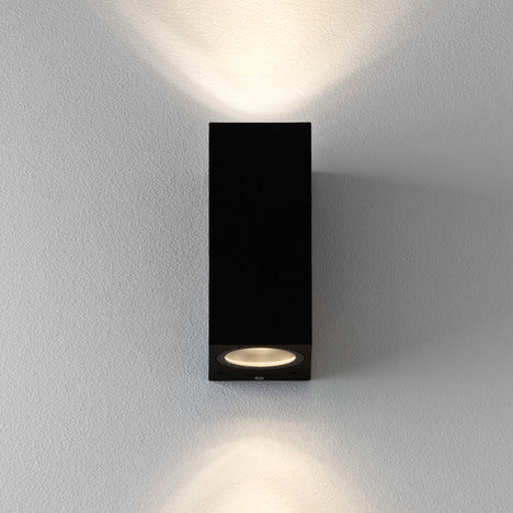 Chios 150 Up & Down Outdoor LED Wall Light Textured Black