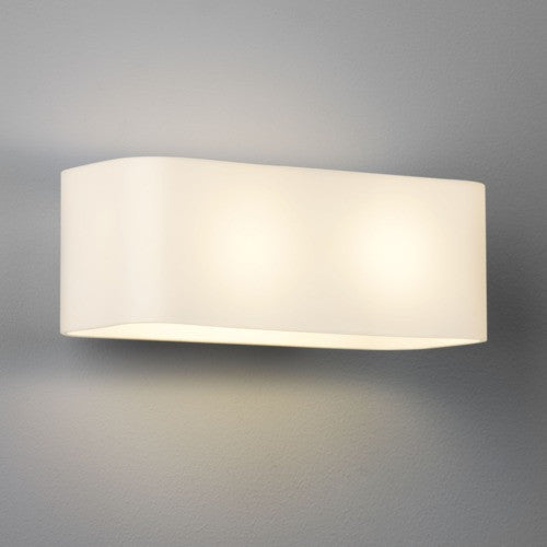 Obround Opal Glass Wall Light