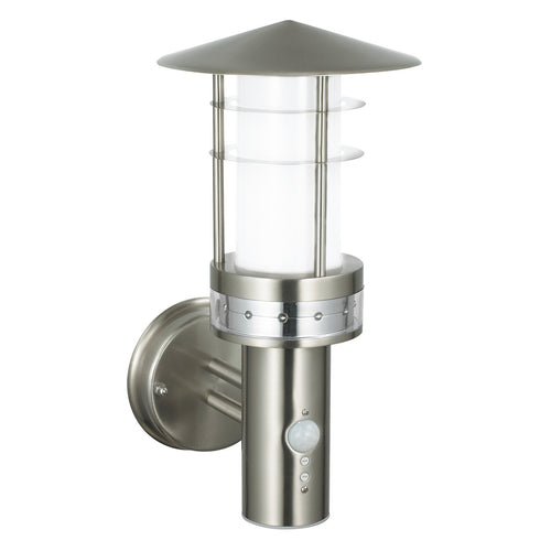 Pagoda Outdoor Security Wall Light with LED Ring