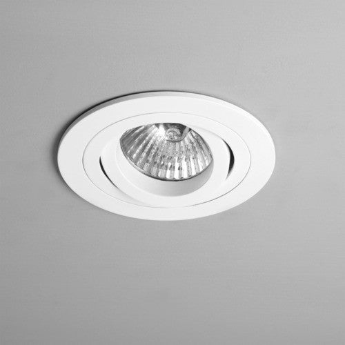 taro round adjustable fire rated white recessed downlight 240v