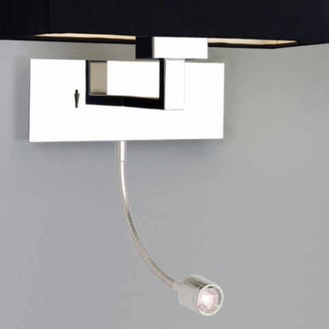 Park Lane Grande Chrome Wall Light with LED Arm (shade sold seperately)