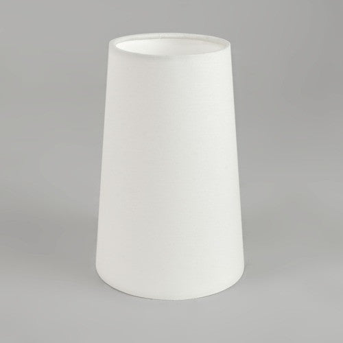 Cone 240 White Fabric Wall Light Shade