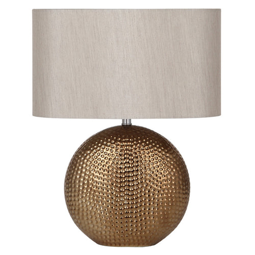 Bronze Ceramic Table Lamp Complete