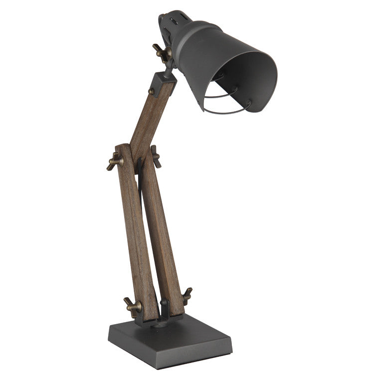 Wood/Metal Table Task Lamp