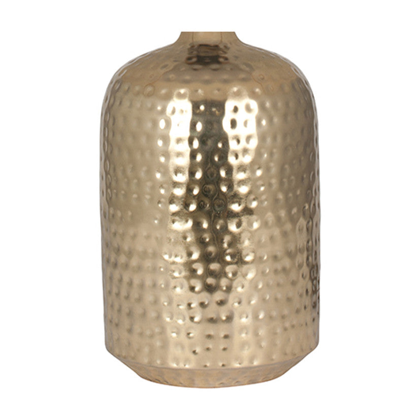 Shiny Gold Hammered Capsule Table Lamp