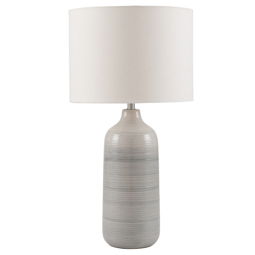 Blue & Grey Ombre Ceramic Table Lamp