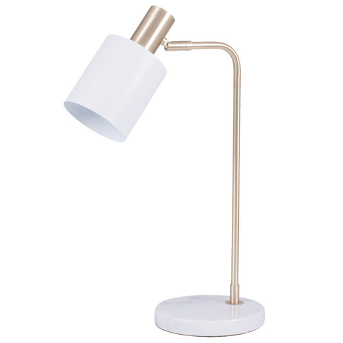 Marble Foot White & Gold Retro Table Lamp