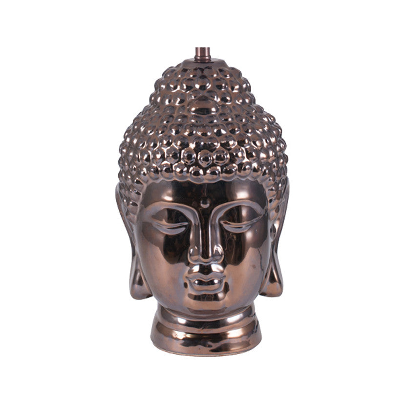 Bronze Ceramic Buddah Head Table Lamp