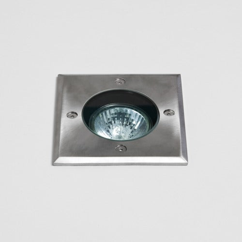 Gramos Square Outdoor LED Ground Light Brushed Stainless Steel