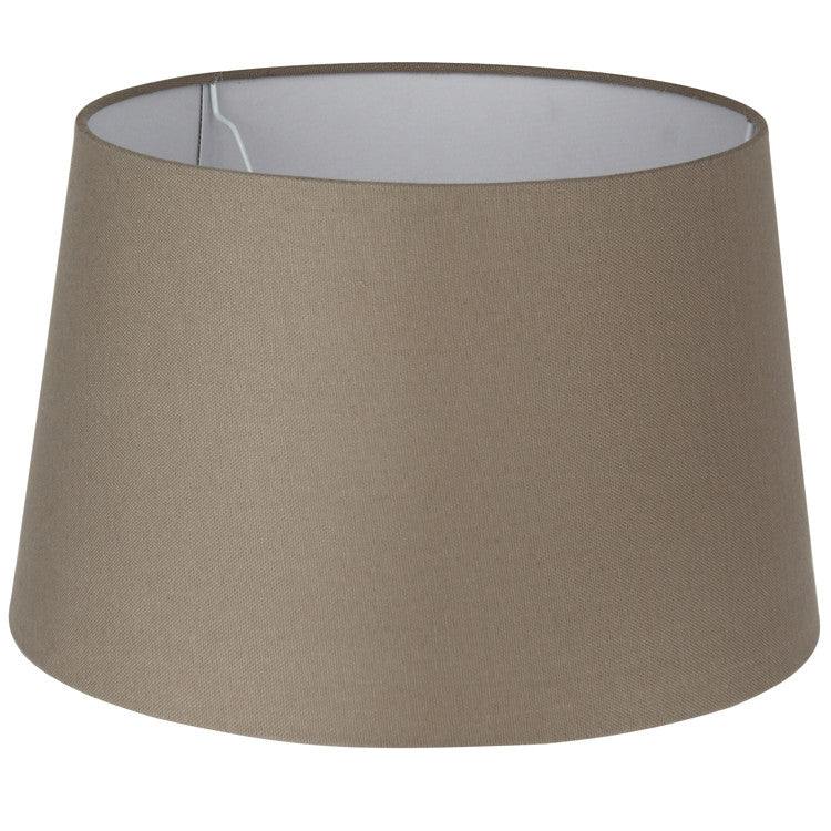 30cm Handloom Taupe Tapered Cylinder Shade