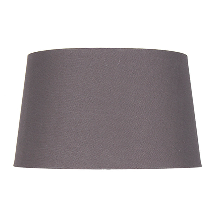 20cm Grey Handloom Tapered Cylinder Shade