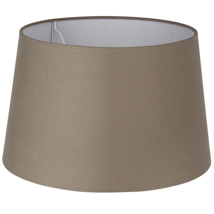 20cm Taupe Loom Tapered Cylinder Shade