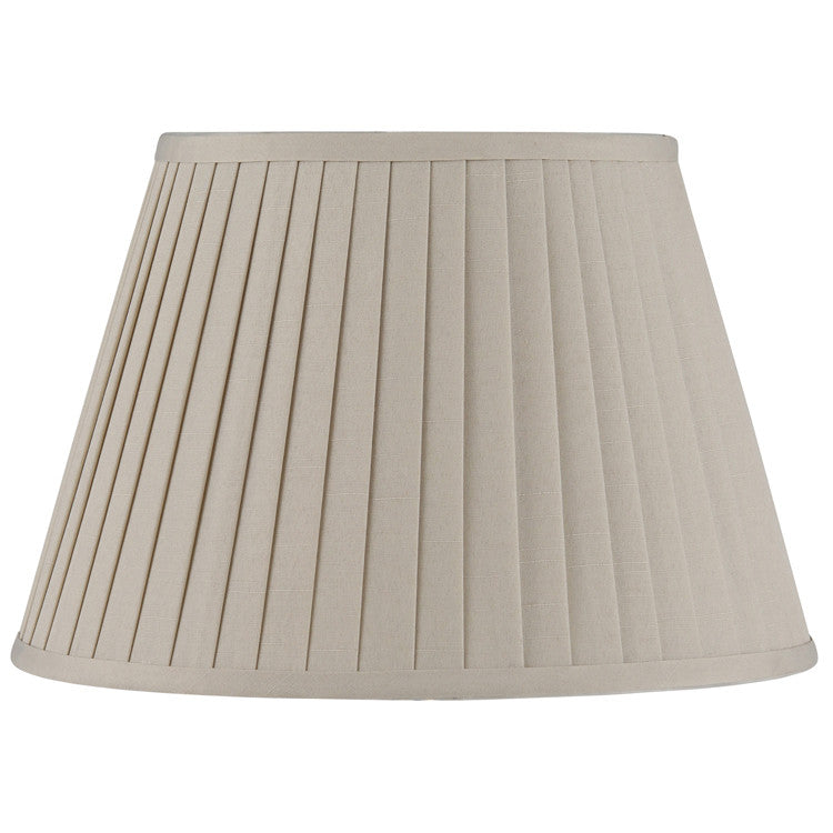 25cm Taupe Poly Cotton Knife Pleat Shade