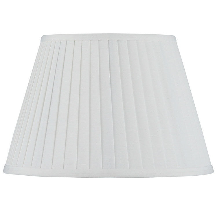 30cm Ivory Poly Cotton Knife Pleat Shade