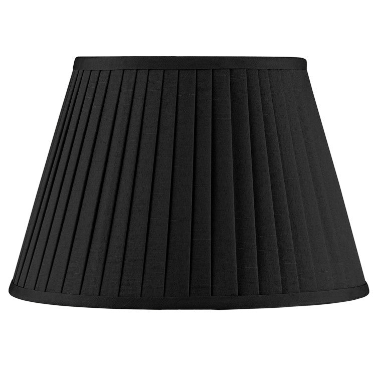 35cm Black Poly Cotton Knife Pleat Shade