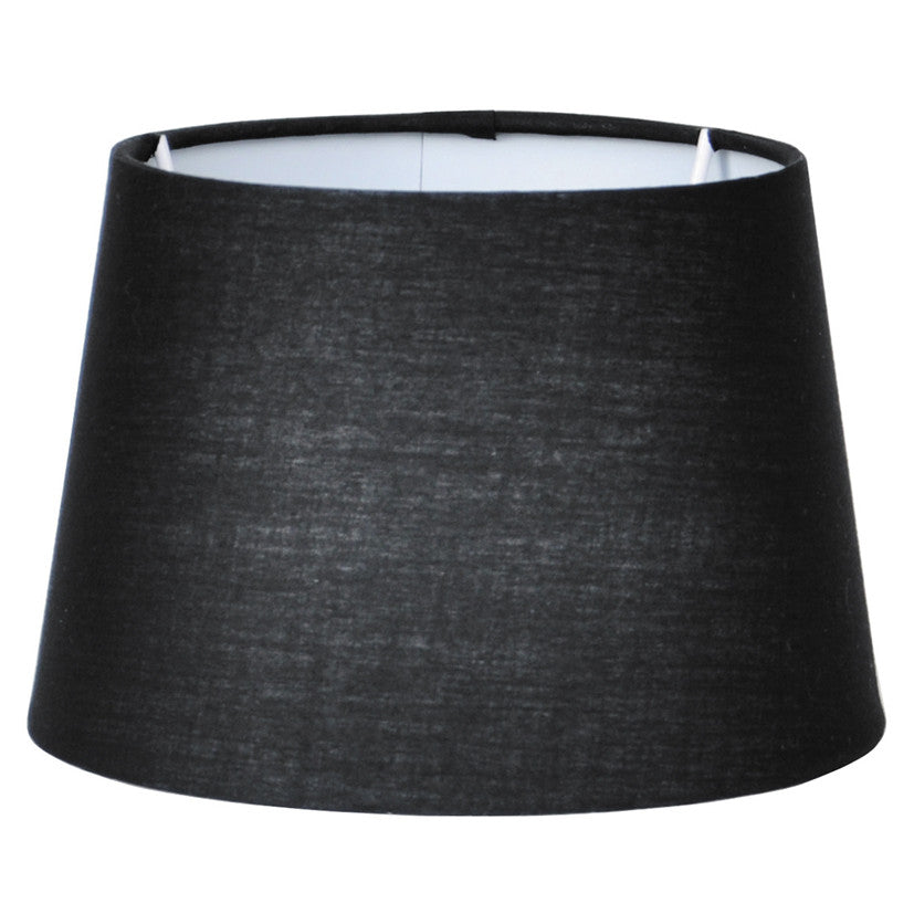 35cm Black Tapered Poly Cotton Shade