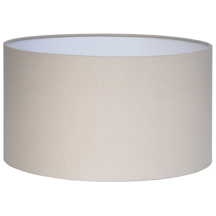 25cm Taupe Poly Cotton Cylinder Drum Shade