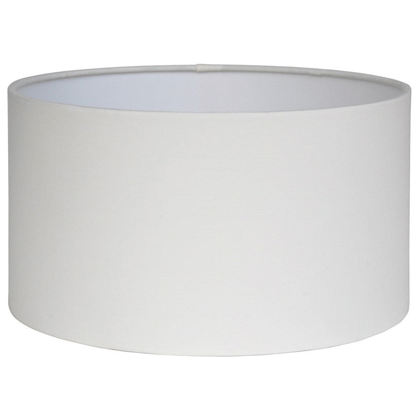 35cm Ivory Polycotton Cylinder Drum Shade