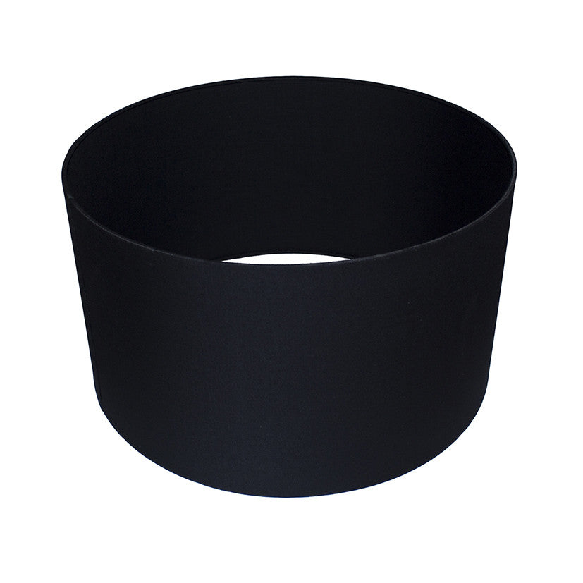 40cm Black Poly Cotton Cylinder Drum Shade