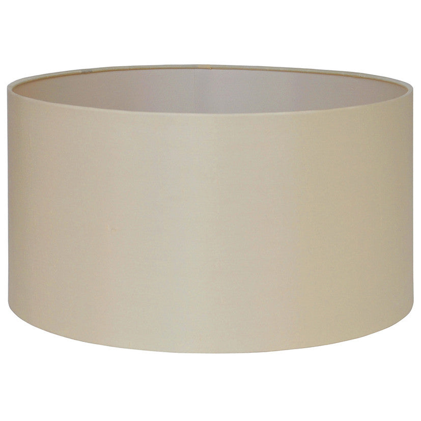45cm Almond Silk Lined Cylinder Shade