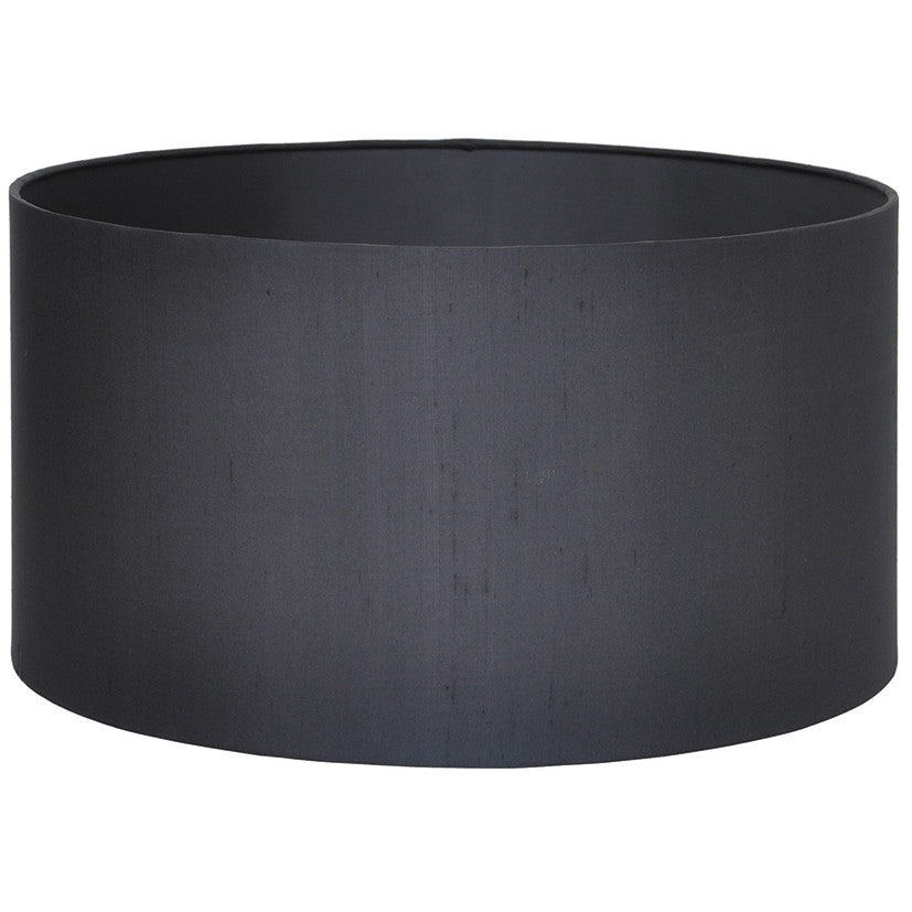 45cm Black Silk Lined Cylinder Shade