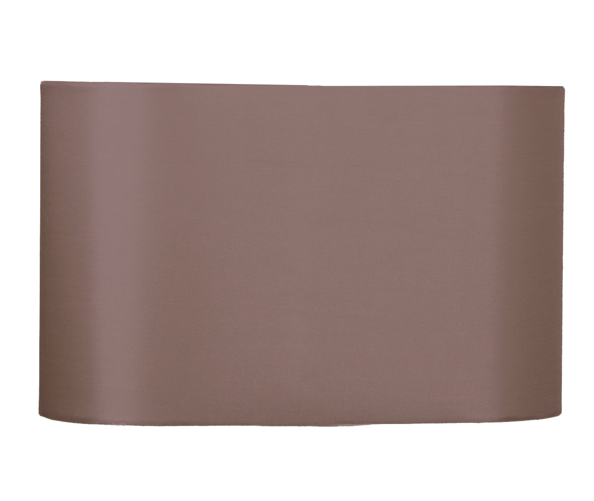 35cm Taupe Oval Polysilk Shade