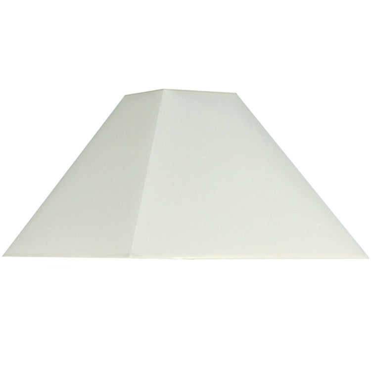 35cm Cream Cotton Tapered Square Shade