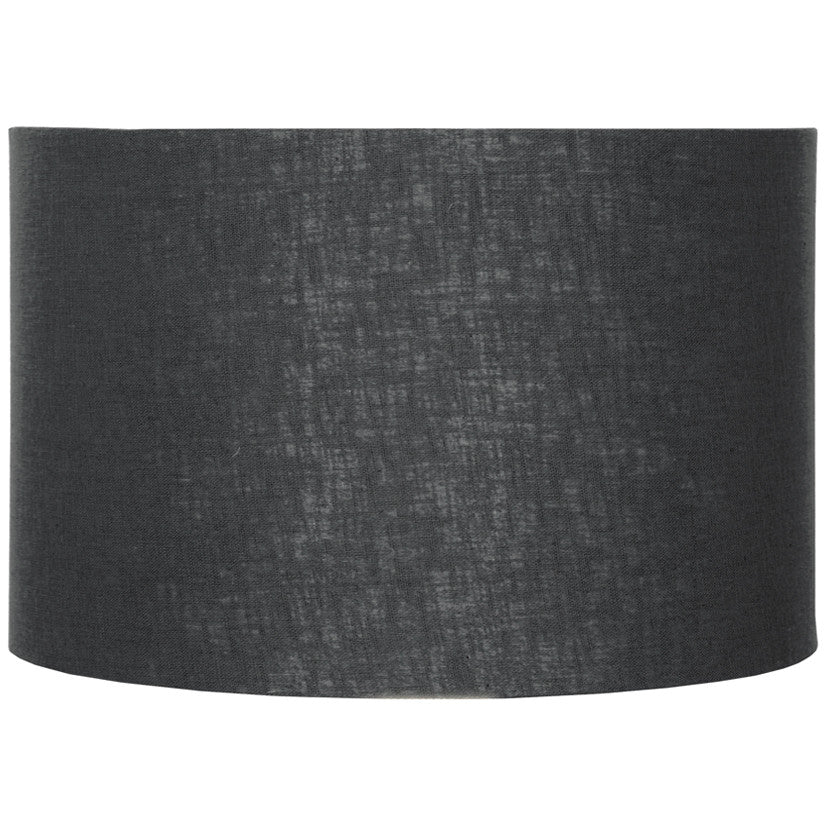 30cm Black Double Lined Linen Drum Shade