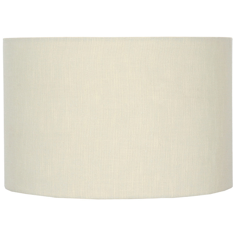 30cm Cream Double Lined Linen Drum Shade