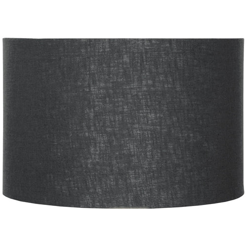 35cm Black Double Lined Linen Drum Shade