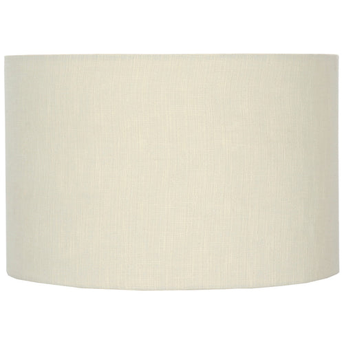 40cm Cream Double Lined Linen Drum Shade