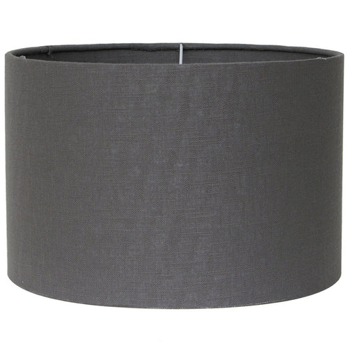 45cm Grey Double Lined Linen Drum Shade