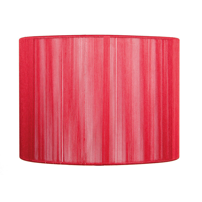 20cm Red Silky String Drum Shade