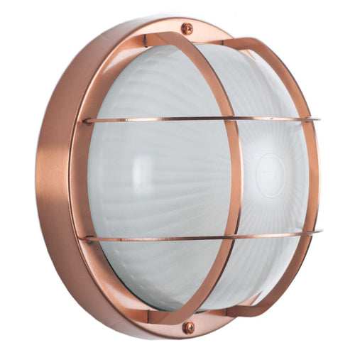 Copper Outdoor Bulk Head Wall Light