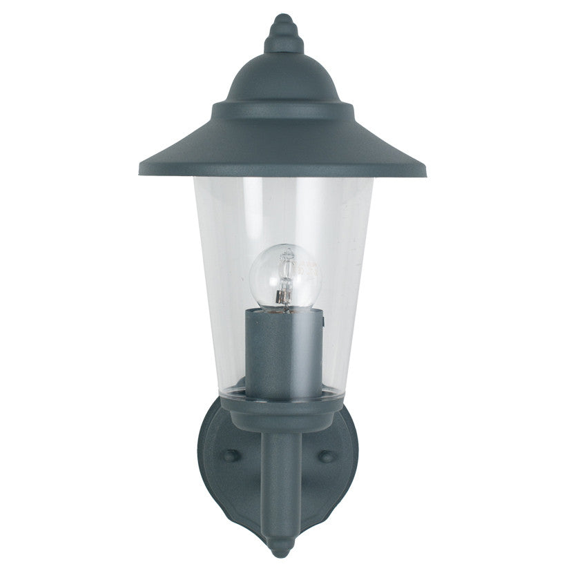Grey Lantern Outdoor Wall Light