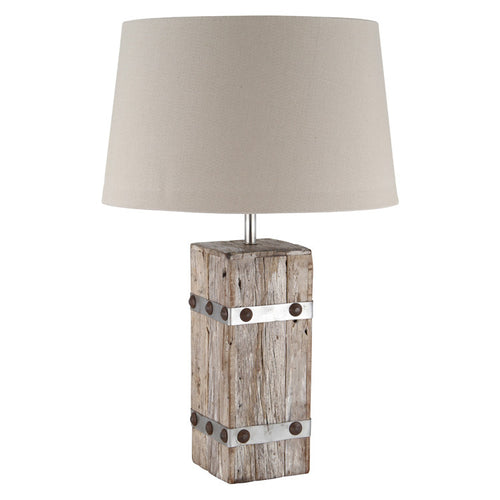 Australia gold coast lightinguk woodmetal heavy cotton table lamp complete aloadofball Choice Image
