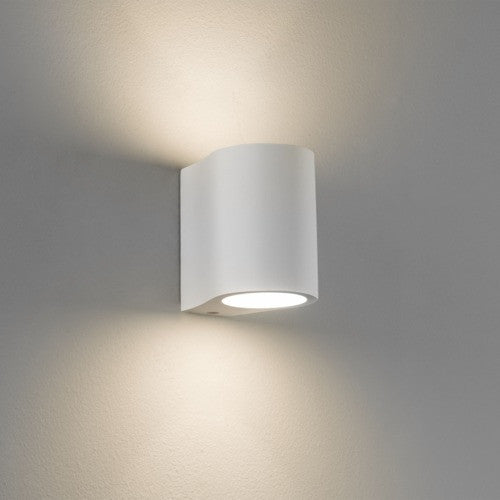 Pero White Plaster Wall Light