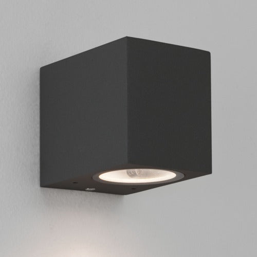 Chios 80 Outdoor LED Wall Light Textured Black