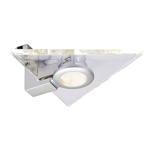 Aether Triangular LED Under Cabinet Light 2.5W Silver