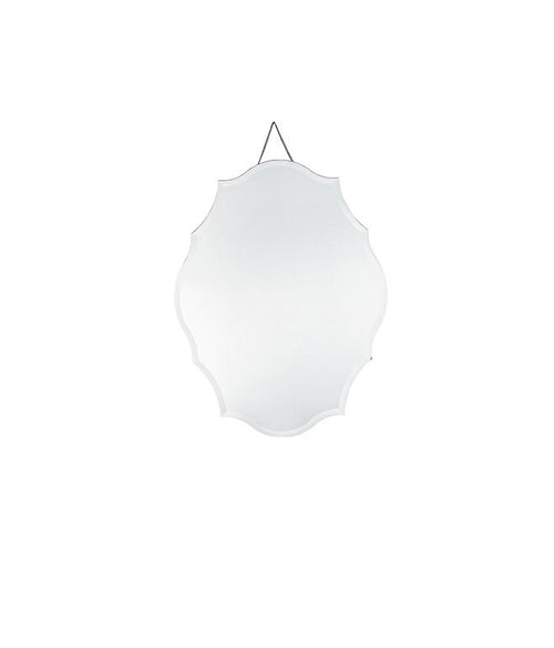 Clear Glass Scalloped Wall Mirror