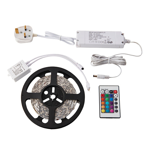 Flexline 5m LED Kit RGB 24W White