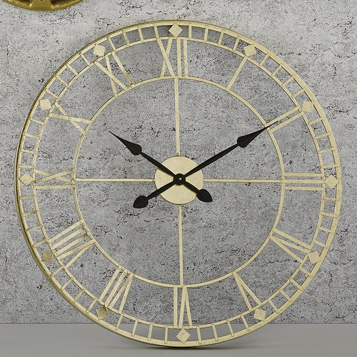 Antique Gold Round Wall Clock