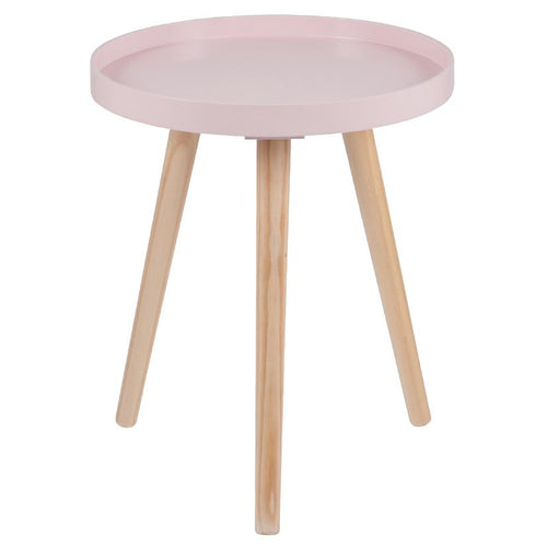 Halston Pink Wood Small Table
