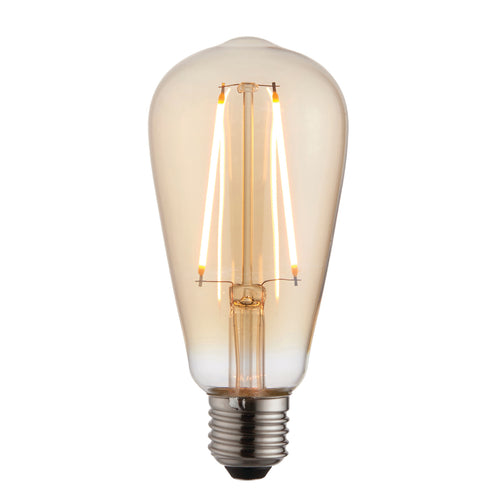 E27 LED Filament Pear Warm White Accessory Tinted Amber Glass