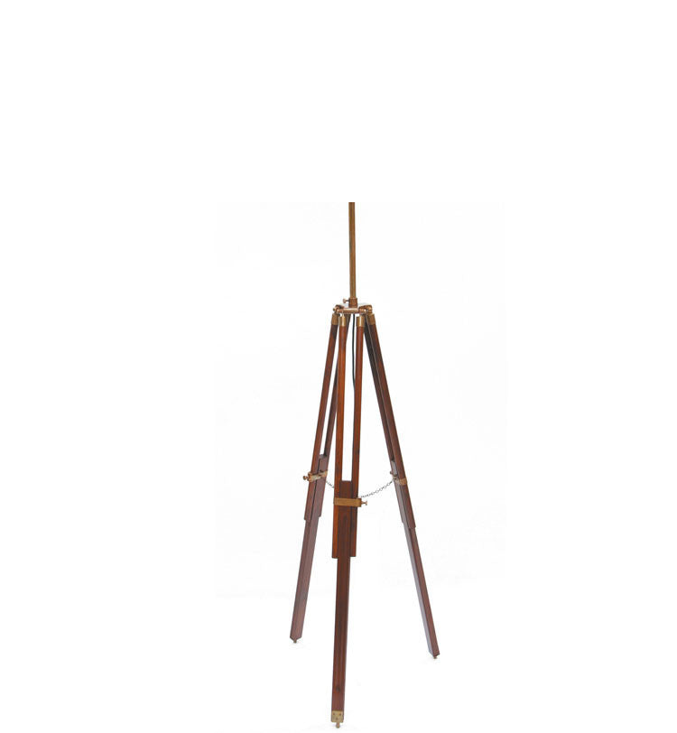 Dark Wood Tripod Floor Lamp Base